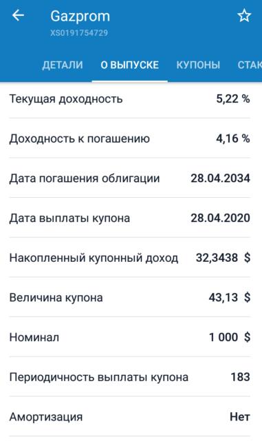 Доходность 14-летних облигаций Газпрома